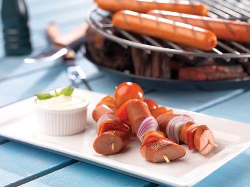 Pinchos de Salchichas Frankfurt y Polaca Plumrose® Deli con Vegetales